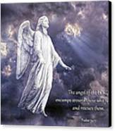 The Angel Of The Lord Canvas Print by Bonnie Barry
