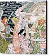 The Angels Kitchen Canvas Print by Eugene Grasset