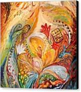 The Angels On Wedding Triptych - Left Side Canvas Print by Elena Kotliarker