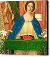 The Annunciation Canvas Print by Arthur Joseph Gaskin