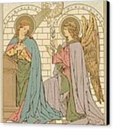 The Annunciation Of The Blessed Virgin Mary Canvas Print by English School