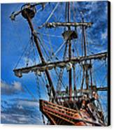 The Approaching Storm - Spanish Galleon Canvas Print by Lee Dos Santos