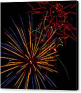 The Art Of Fireworks  Canvas Print by Saija  Lehtonen