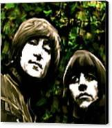 The Art Of Sound  The Beatles Canvas Print by Iconic Images Art Gallery David Pucciarelli