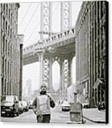 The Artist In New York Canvas Print by Shaun Higson