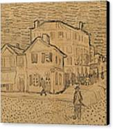 The Artists House In Arles Canvas Print by Vincent Van Gogh