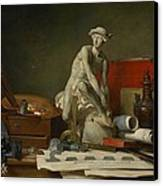 The Attributes Of The Arts And The Rewards Which Are Accorded Them Canvas Print by Jean Baptiste Simeon Chardin