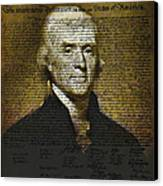 The Author Of America Canvas Print by Bill Cannon