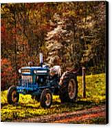 The Autumn Blues Canvas Print by Debra and Dave Vanderlaan
