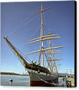 The Balclutha Historic 3 Masted Schooner - San Francisco Canvas Print by Daniel Hagerman