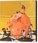 The Bank Robbery Canvas Print by Leonard Filgate