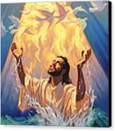 The Baptism Of Jesus Canvas Print by Jeff Haynie