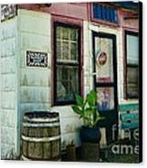 The Barber Shop From A Different Era Canvas Print by Paul Ward