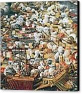 The Battle Of Lepanto, 7th October Canvas Print by Everett