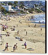 The Beach At Laguna Canvas Print by Kelley King