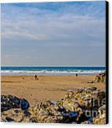 The Beach At Porthtowan Cornwall Canvas Print by Brian Roscorla