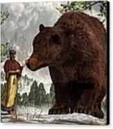 The Bear Woman Canvas Print by Daniel Eskridge