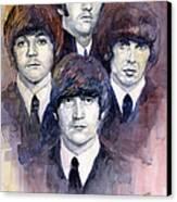 The Beatles 02 Canvas Print by Yuriy  Shevchuk