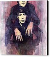 The Beatles John Lennon And Paul Mccartney Canvas Print by Yuriy  Shevchuk