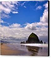 The Beautiful Cannon Beach Oregon Canvas Print by David Patterson