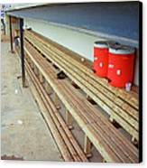 The Bench Canvas Print by Frank Romeo