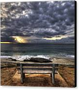 The Bench Canvas Print by Peter Tellone