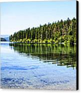 The Best Beach In Glacier National Park Panorama Canvas Print by Scotts Scapes
