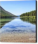 The Best Beach In Glacier National Park Canvas Print by Scotts Scapes