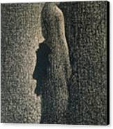 The Black Bow Canvas Print by Georges Pierre Seurat