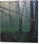 The Blue-green Forest Canvas Print by Derek Van Derven