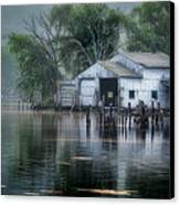 The Boathouse Canvas Print by Bill  Wakeley
