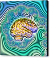 The Brain Canvas Print by Dennis D. Potokar