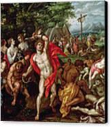The Brazen Serpent Canvas Print by Hendrik de Clerck