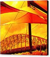 The Bridge On Mars Canvas Print by Wendy J St Christopher