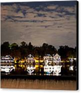The Bright Lights Of Boathouse Row Canvas Print by Bill Cannon
