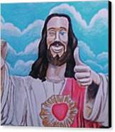 The Buddy Christ Canvas Print by Jeremy Moore