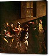 The Calling Of St Matthew Canvas Print by Michelangelo Merisi o Amerighi da Caravaggio