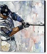 The Captain Derek Jeter Canvas Print by Michael  Pattison