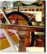 The Captain's Wheel Canvas Print by Karen Wiles