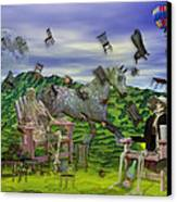 The Chairs Of Oz Canvas Print by Betsy C Knapp