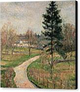 The Chateau At Busagny Canvas Print by Camille Pissarro