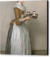 The Chocolate Girl Canvas Print by Jean-Etienne Liotard