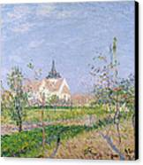 The Church At Vaudreuil Canvas Print by Gustave Loiseau