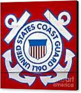 The Coast Guard Shield Canvas Print by Olivier Le Queinec