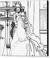 The Coiffing Canvas Print by Aubrey Beardsley