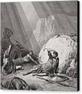 The Conversion Of St. Paul Canvas Print by Gustave Dore