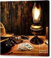 The Cowboy Nightstand Canvas Print by Olivier Le Queinec
