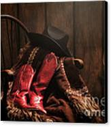The Cowgirl Rest Canvas Print by Olivier Le Queinec