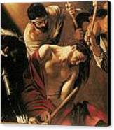 The Crowing With Thorns Canvas Print by Caravaggio