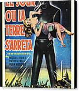 The Day The Earth Stood Still Vintage Poster Canvas Print by Bob Christopher